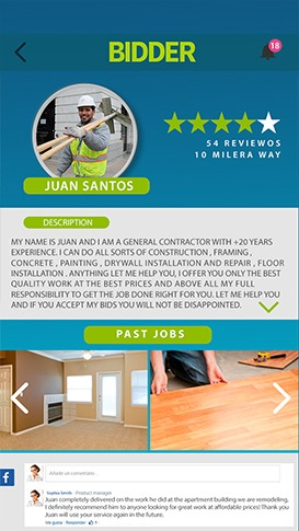 Bidder - The Construction APP for Latino Workers in USA